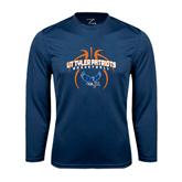 Syntrel Performance Navy Longsleeve Shirt-Basketball in Ball