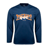 Syntrel Performance Navy Longsleeve Shirt-Baseball Crossed Bats