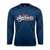 Syntrel Performance Navy Longsleeve Shirt-Softball Lady Design