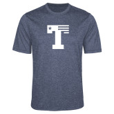 Performance Navy Heather Contender Tee-Flag T