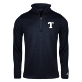 Russell Navy Heather 1/4 Zip-Flag T