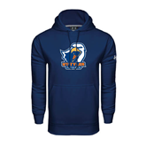 Under Armour Navy Performance Sweats Team Hood-UT Tyler w/ Eagle Head
