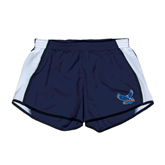 Ladies Navy/White Team Short-Official Logo