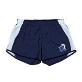 Ladies Navy/White Team Short-UT Tyler w/ Eagle Head