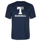 Performance Navy Tee-Flag T - Baseball