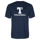 Performance Navy Tee-Flag T - Volleyball