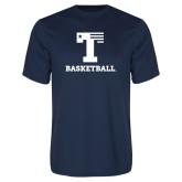 Performance Navy Tee-Flag T - Basketball