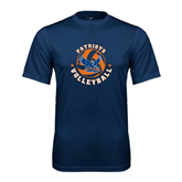 Syntrel Performance Navy Tee-Volleyball Design