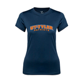 Ladies Syntrel Performance Navy Tee-UT Tyler Arched