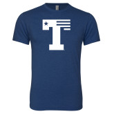 Next Level Vintage Navy Tri Blend Crew-Flag T