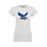 Next Level Ladies SoftStyle Junior Fitted White Tee-Official Logo