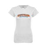 Next Level Ladies SoftStyle Junior Fitted White Tee-UT Tyler Arched