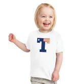 Toddler White T Shirt-Flag T