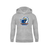 Youth Grey Fleece Hood-UT Tyler w/ Eagle Head