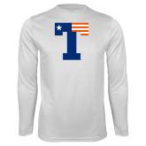 Performance White Longsleeve Shirt-Flag T