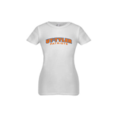 Youth Girls White Fashion Fit T Shirt-UT Tyler Arched