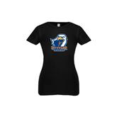 Youth Girls Black Fashion Fit T Shirt-UT Tyler w/ Eagle Head