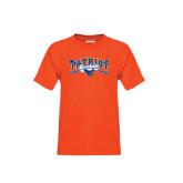 Youth Orange T Shirt-Baseball Crossed Bats