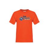 Youth Orange T Shirt-Softball Lady Design