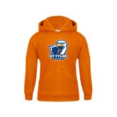 Youth Orange Fleece Hood-UT Tyler w/ Eagle Head