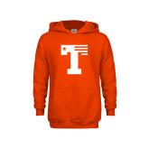 Youth Orange Fleece Hoodie-Flag T