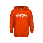Youth Orange Fleece Hoodie-Primary Athletics Mark