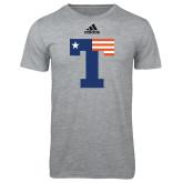 Adidas Sport Grey Logo T Shirt-Flag T