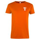 Ladies Orange T Shirt-Flag T
