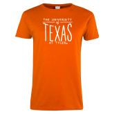 Ladies Orange T Shirt-Vintage