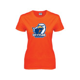 Ladies Orange T Shirt-UT Tyler w/ Eagle Head