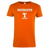 Ladies Orange T Shirt-Basketball Sharp Net