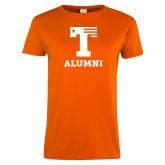Ladies Orange T Shirt-Alumni
