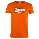 Ladies Orange T Shirt-Championship Gear
