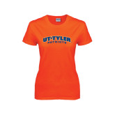 Ladies Orange T Shirt-UT Tyler Arched