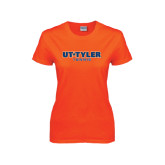 Ladies Orange T Shirt-Tennis