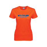 Ladies Orange T Shirt-Athletics