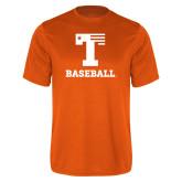 Performance Orange Tee-Flag T - Baseball