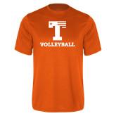 Performance Orange Tee-Flag T - Volleyball