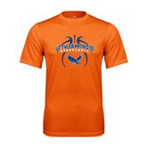 Performance Orange Tee-Basketball in Ball