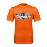 Performance Orange Tee-Baseball Crossed Bats