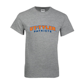 Grey T Shirt-UT Tyler Arched