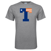Grey T Shirt-Flag T