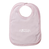Light Pink Baby Bib-UT Tyler Arched