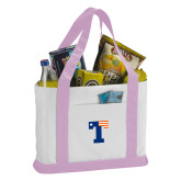Contender White/Pink Canvas Tote-Flag T