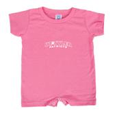 Bubble Gum Pink Infant Romper-UT Tyler Arched