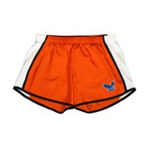 Ladies Orange/White Team Short-Official Logo