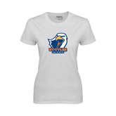 Ladies White T Shirt-UT Tyler w/ Eagle Head