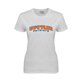 Ladies White T Shirt-UT Tyler Arched