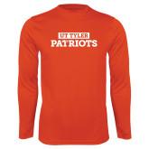 Performance Orange Longsleeve Shirt-UT Tyler in Box Patriots