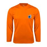 Syntrel Performance Orange Longsleeve Shirt-UT Tyler w/ Eagle Head